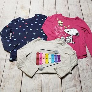 Toddler girl 3 pack long sleeve t-shirts 3T